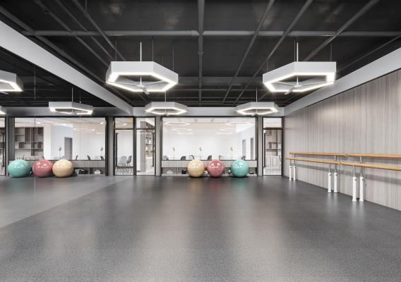 现代健身房 舞蹈教室 舞蹈房 瑜伽教室