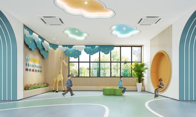 现代幼儿园门厅