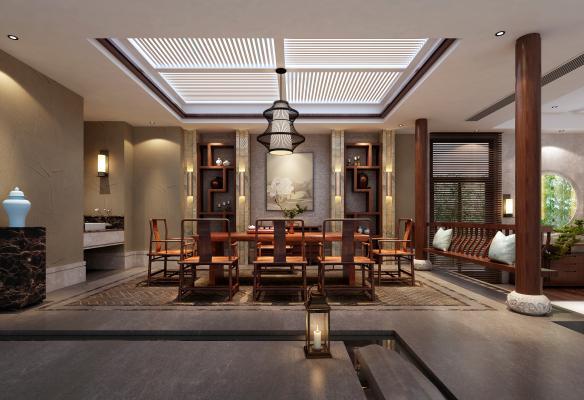 新中式茶室茶馆