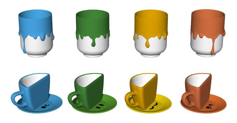 现代茶杯 儿童水杯