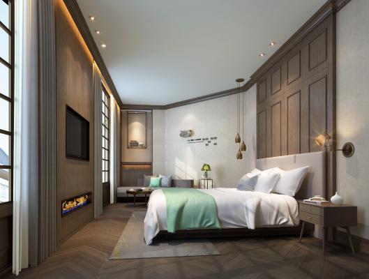 现代北欧酒店客房
