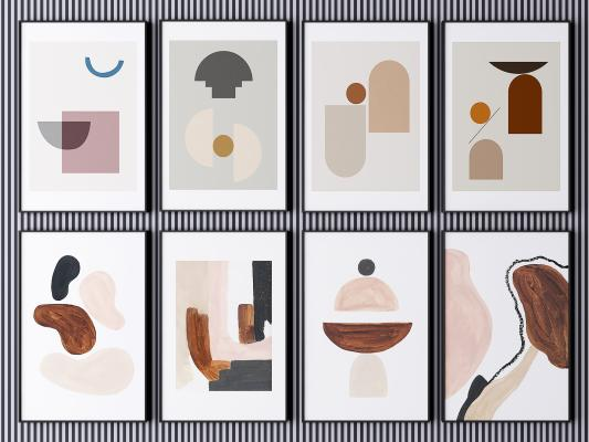 现代挂画 装饰画 艺术画