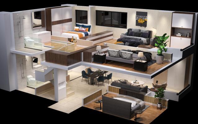 现代公寓组合