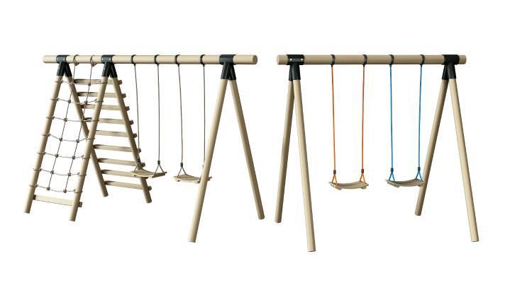 现代秋千 攀爬架 健身器材 娱乐设备