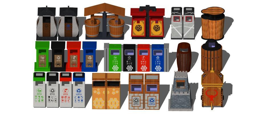 新中式垃圾箱 垃圾桶