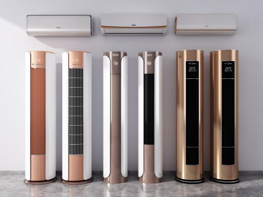 现代落地式空调组合 壁挂式空调 落地式空调