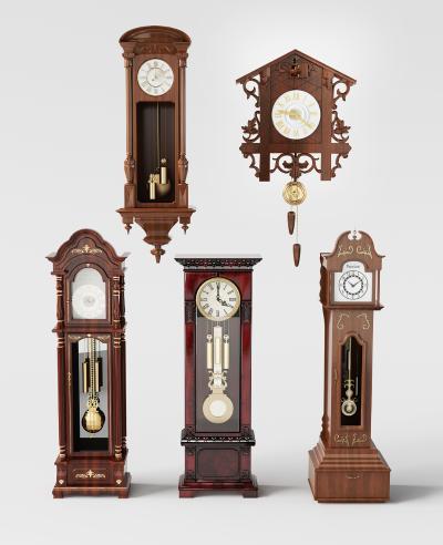 美式座钟挂钟组合
