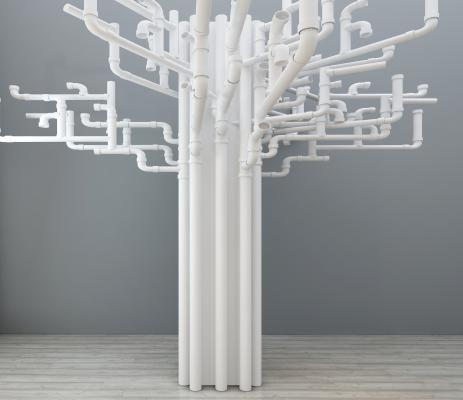 工业风PVC水管装饰品摆件组合
