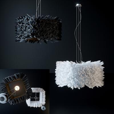 現代羽毛吊燈