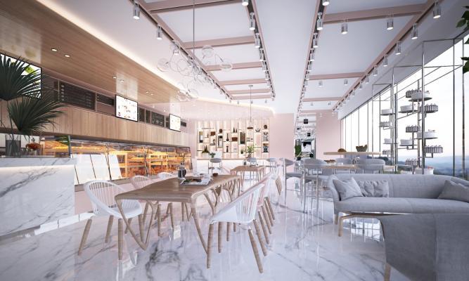 现代面包甜品店