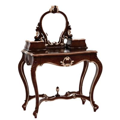 欧式古典梳妆台组合 梳妆凳