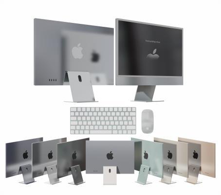 现代电脑 显示屏 苹果电脑