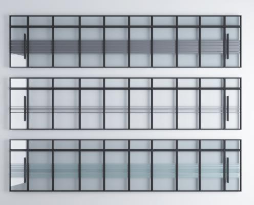 现代办公玻璃隔断墙 玻璃墙 隔断墙