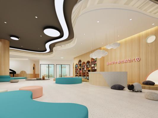 北欧幼儿园大厅 教室 活动室