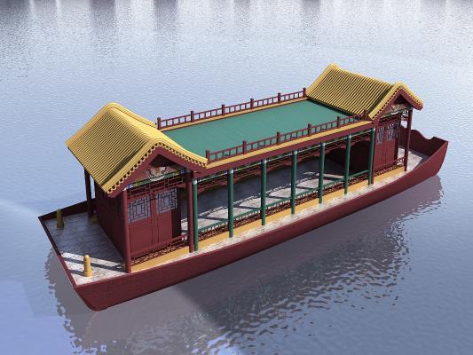 中式古建观光船