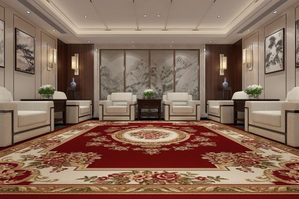 新中式接待室 壁灯 挂画