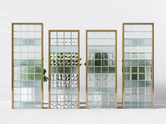 现代玻璃砖墙隔断