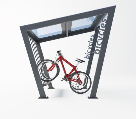 现代自行车 车棚