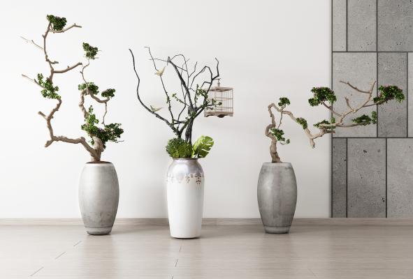 新中式植物盆景盆栽