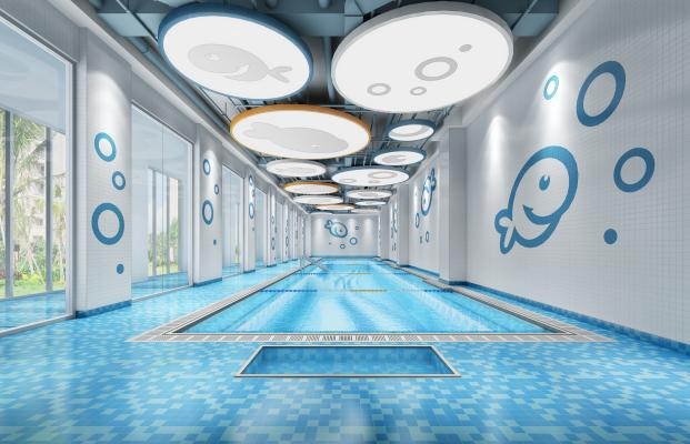 现代风格游泳池