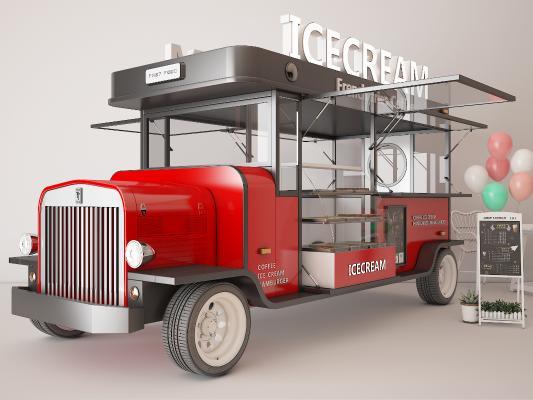 现代快餐车 花车 装饰车