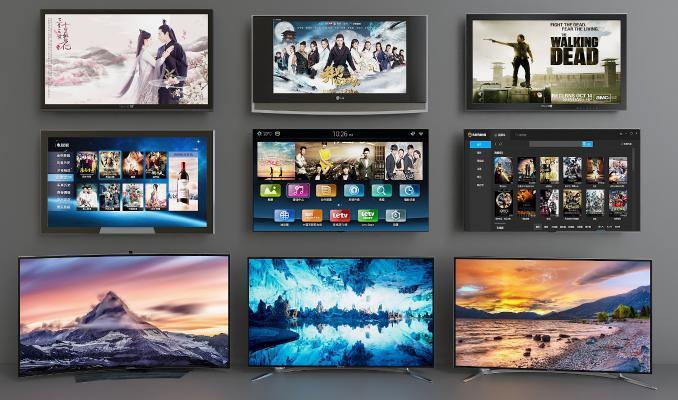 现代电视机显示器组合