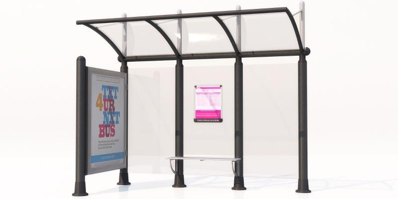现代公交站 候车亭