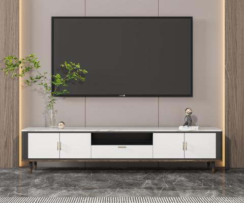 現代電視柜 水生植物 飾品擺件