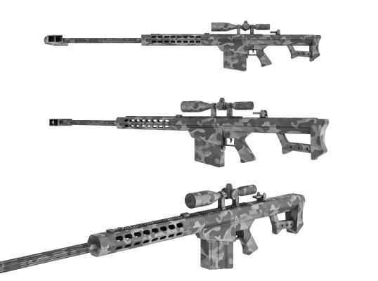 现代玩具枪 狙击步枪 巴雷特