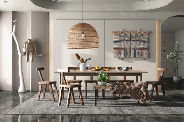 北欧风格餐桌椅