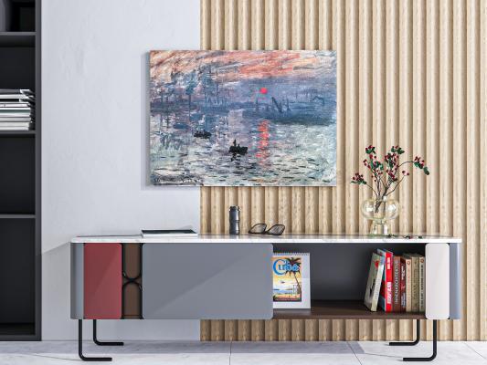 现代电视柜 装饰品 装饰画