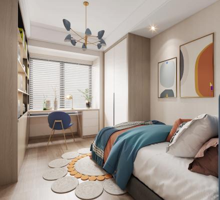 现代卧室 儿童房