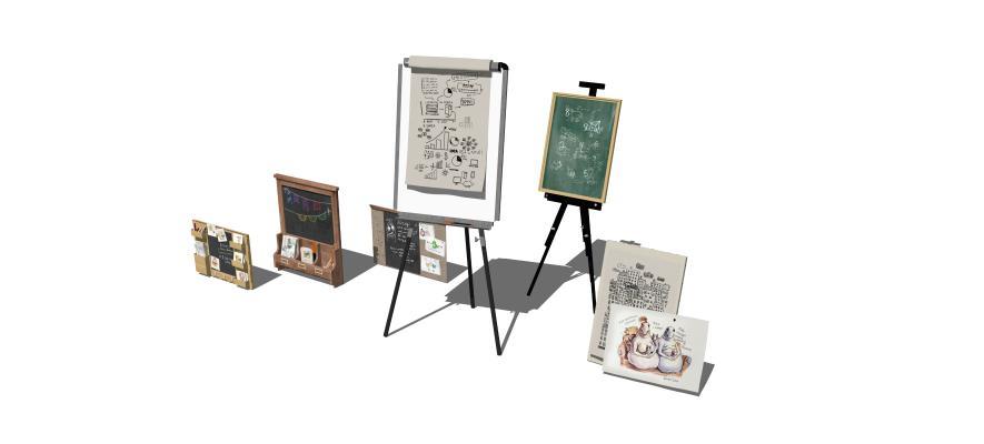 现代画架 磁力黑板