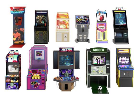 现代游戏机 电玩设备组合
