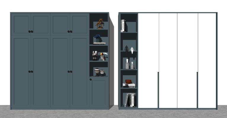 现代多功能衣柜 衣橱 玄关储物柜
