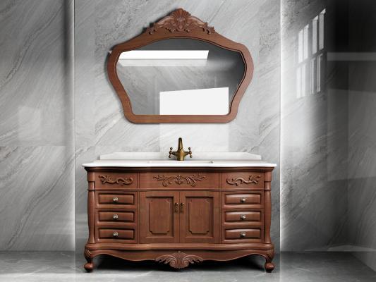 新古典浴室柜 镜子