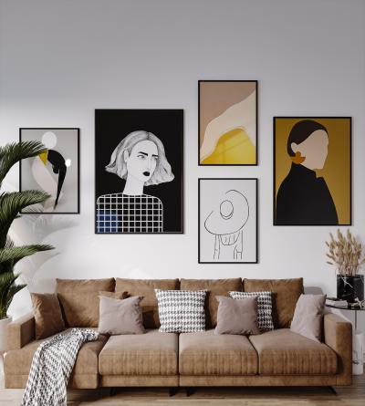 北欧风格沙发组合 客厅