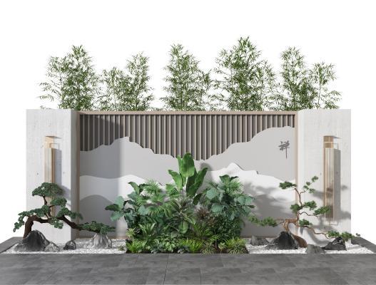 新中式庭院景观 园林