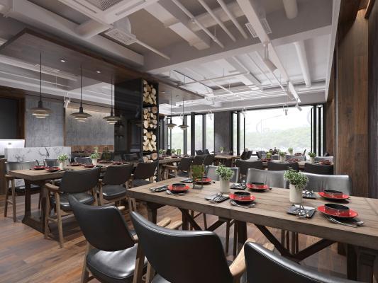 现代餐饮店 餐厅 吊灯