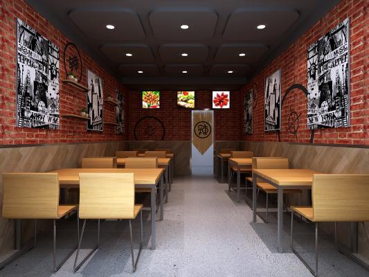 工业风餐厅餐饮 小龙虾烧烤店