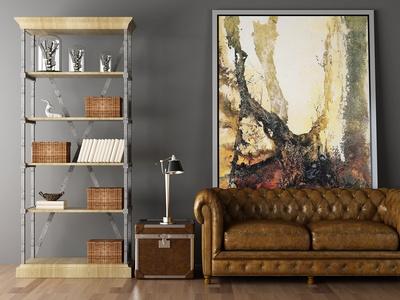 美式沙发 挂画