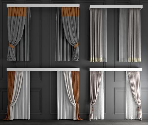现代风格窗帘 窗纱
