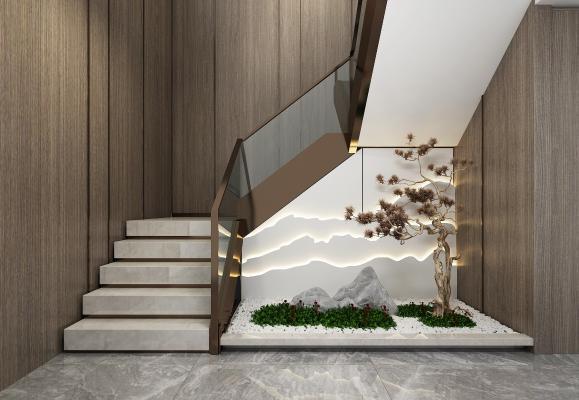 新中式楼梯间
