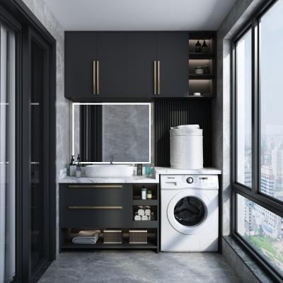 现代阳台洗衣房