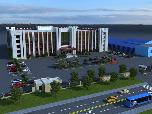 工业风格厂房办公楼