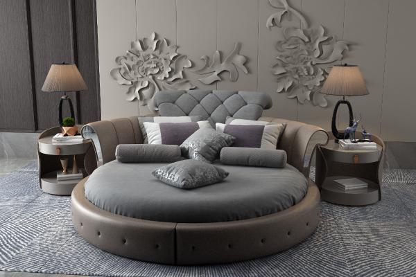 现代轻奢圆床