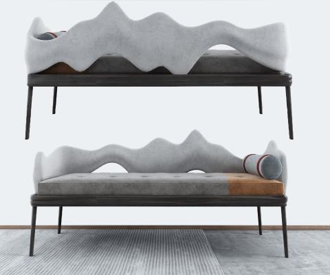 新中式沙发凳 床榻 边凳