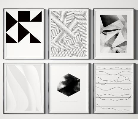 现代几何装饰画
