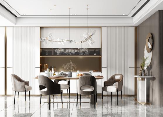现代餐厅 餐椅 餐桌
