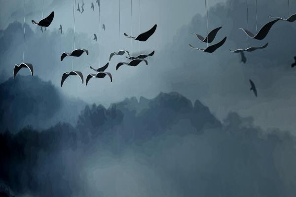 新中式海欧鸟吊灯